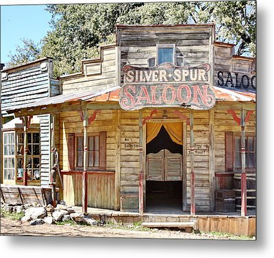 Old Western Saloon Metal Print