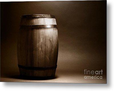 Old Whisky Barrel Metal Print by Olivier Le Queinec