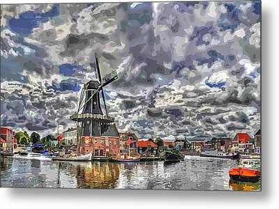 Old Windmill On The Shore Metal Print by Maciek Froncisz