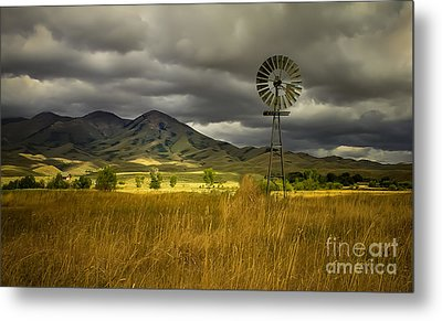Old Windmill Metal Print by Robert Bales