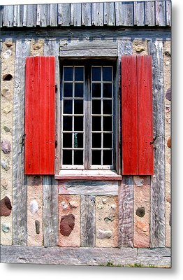 Metal Print featuring the photograph Old Window Fort Michilimackinac Michigan by Mary Bedy