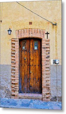 Old Wooden Door - Mexico - Photograph By David Perry Lawrence Metal Print by David Perry Lawrence