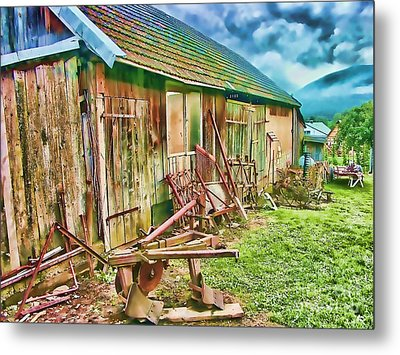 Old Wooden Shed Metal Print by Roman Milert