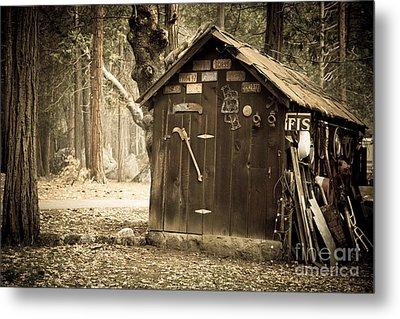 Old Wooden Shed Yosemite Metal Print by Jane Rix