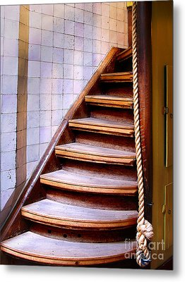 Old Wooden Stairs Metal Print