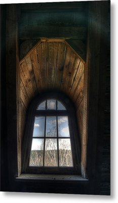 Old Wooden Window Metal Print by Nathan Wright