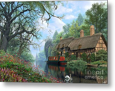 Old Woodland Canal Metal Print by Dominic Davison