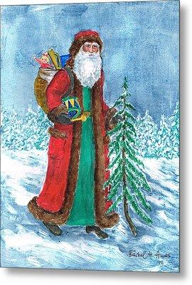 Old World Father Christmas4 Metal Print by Barbel Amos