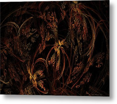 Old World Floral Metal Print