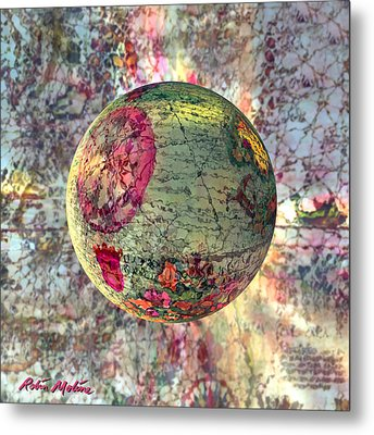 Old World Poppling Metal Print by Robin Moline
