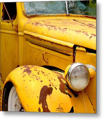 Old Yellow Truck Metal Print