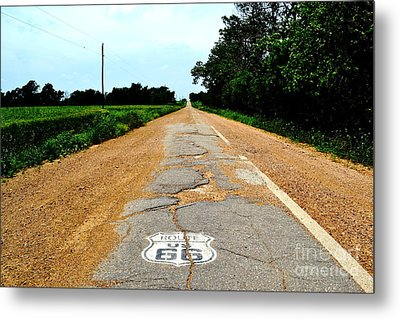 Metal Print featuring the photograph Oldest Stretch Of Route 66 by Utopia Concepts