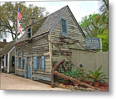Oldest Wood School House In The Usa Metal Print by Marion Johnson