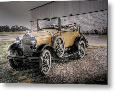 Metal Print featuring the photograph Old Ford Model A Coupe by Dyle   Warren