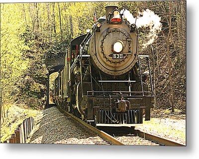 Ole' #630 Steam Train Metal Print by Tammy Schneider
