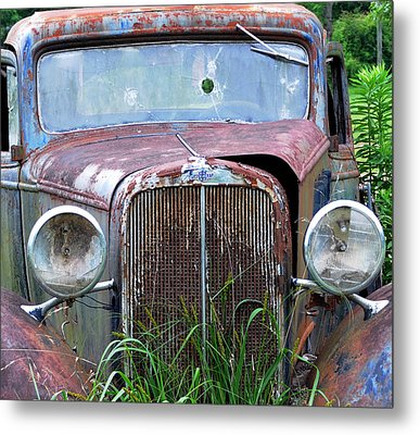 Ole Chevy Metal Print by Leon Hollins III