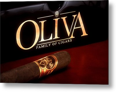 Oliva Cigar Still Life Metal Print by Tom Mc Nemar