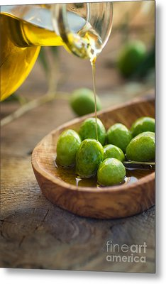 Olive Oil Metal Print by Mythja  Photography