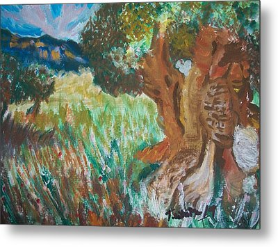 Metal Print featuring the painting Olive Trees by Teresa White