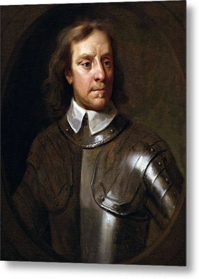 Oliver Cromwell Metal Print by War Is Hell Store