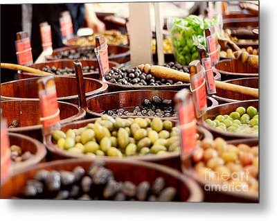 Olives In Barrels Metal Print by Ivy Ho