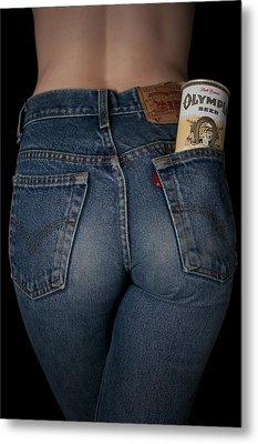 Olympia Beer Ad Metal Print by Casey Grant
