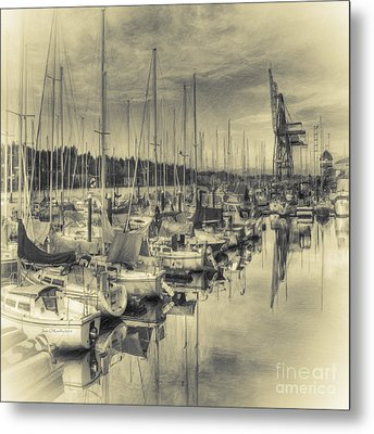 Metal Print featuring the photograph Olympia Marina 3 by Jean OKeeffe Macro Abundance Art