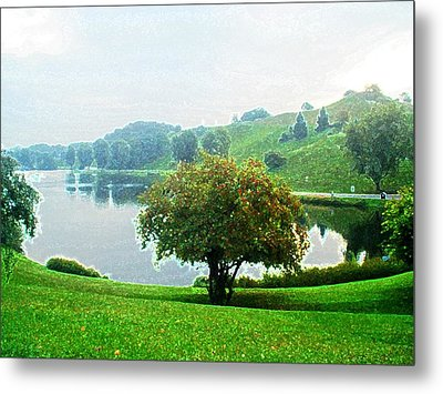 Olympiapark In Munich Metal Print by Zinvolle Art