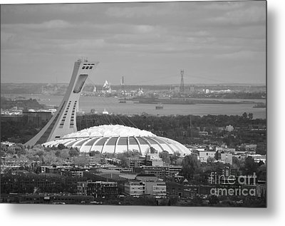 Olympic Stadium Montreal Metal Print by Reb Frost