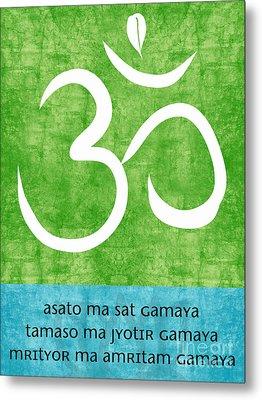 Om Asato Ma Sadgamaya Metal Print