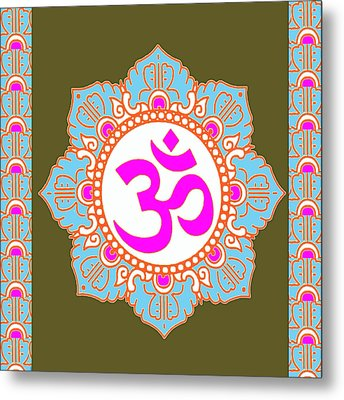 Metal Print featuring the photograph Om Mantra Ommantra 3 by Navin Joshi