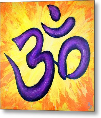 Om Symbol Art Painting Metal Print by Bob Baker