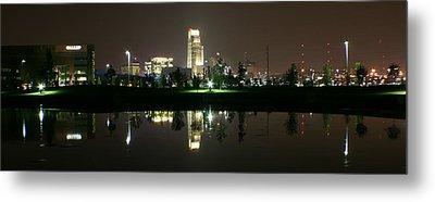 Omaha Skyline Reflection Metal Print