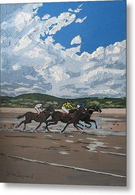 Omey Horse Races Cladaghduff Connemara Ireland Metal Print by Diana Shephard
