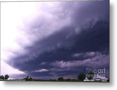 Ominous Clouds Metal Print by PainterArtist FIN