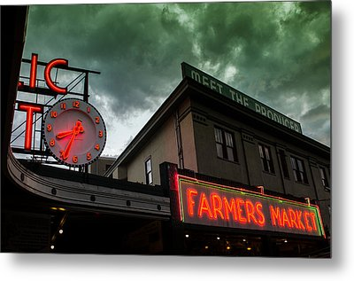 Ominous Scene At The Market Metal Print by Brian Xavier