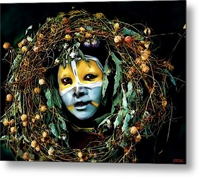 Omo Valley Man With Wreath Metal Print