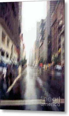 Metal Print featuring the photograph On A Clear Day 5th Ave New York by Michael Hoard