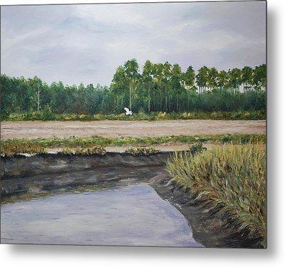 On A Tidal Creek Metal Print by Stanton Allaben