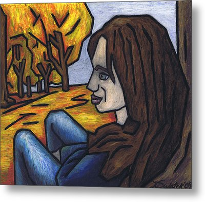On A Warm Autumn Day Metal Print by Kamil Swiatek