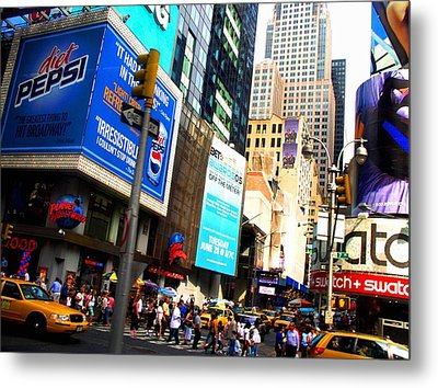 On Broadway Metal Print by Cleaster Cotton