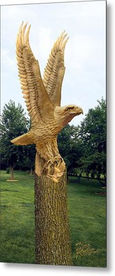 Metal Print featuring the digital art On Eagle's Wings by Doug Kreuger