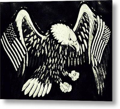 On Eagles Wings Patriotism Metal Print by Patricia Januszkiewicz