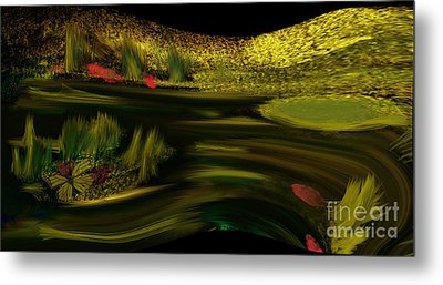 On Golden Pond Metal Print by Sherri's Of Palm Springs