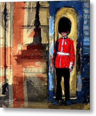 On Guard For Thee Metal Print