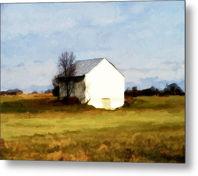 Metal Print featuring the digital art On Hwy B Near Ogdensburg.  by David Blank