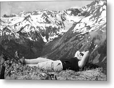 On Mountain Time... Metal Print by Deena Otterstetter