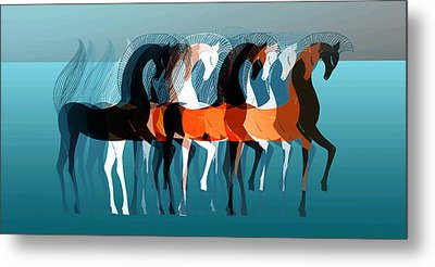 On Parade Metal Print by Stephanie Grant