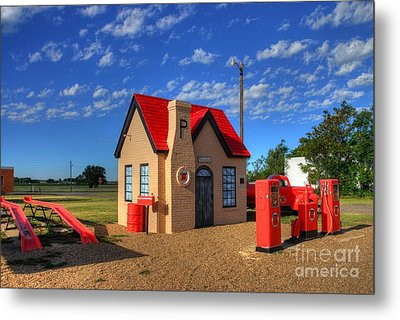 On Route 66 Metal Print by Mel Steinhauer