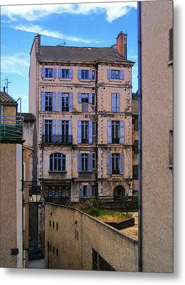 On Rue St. Claire - France Metal Print by David Blank